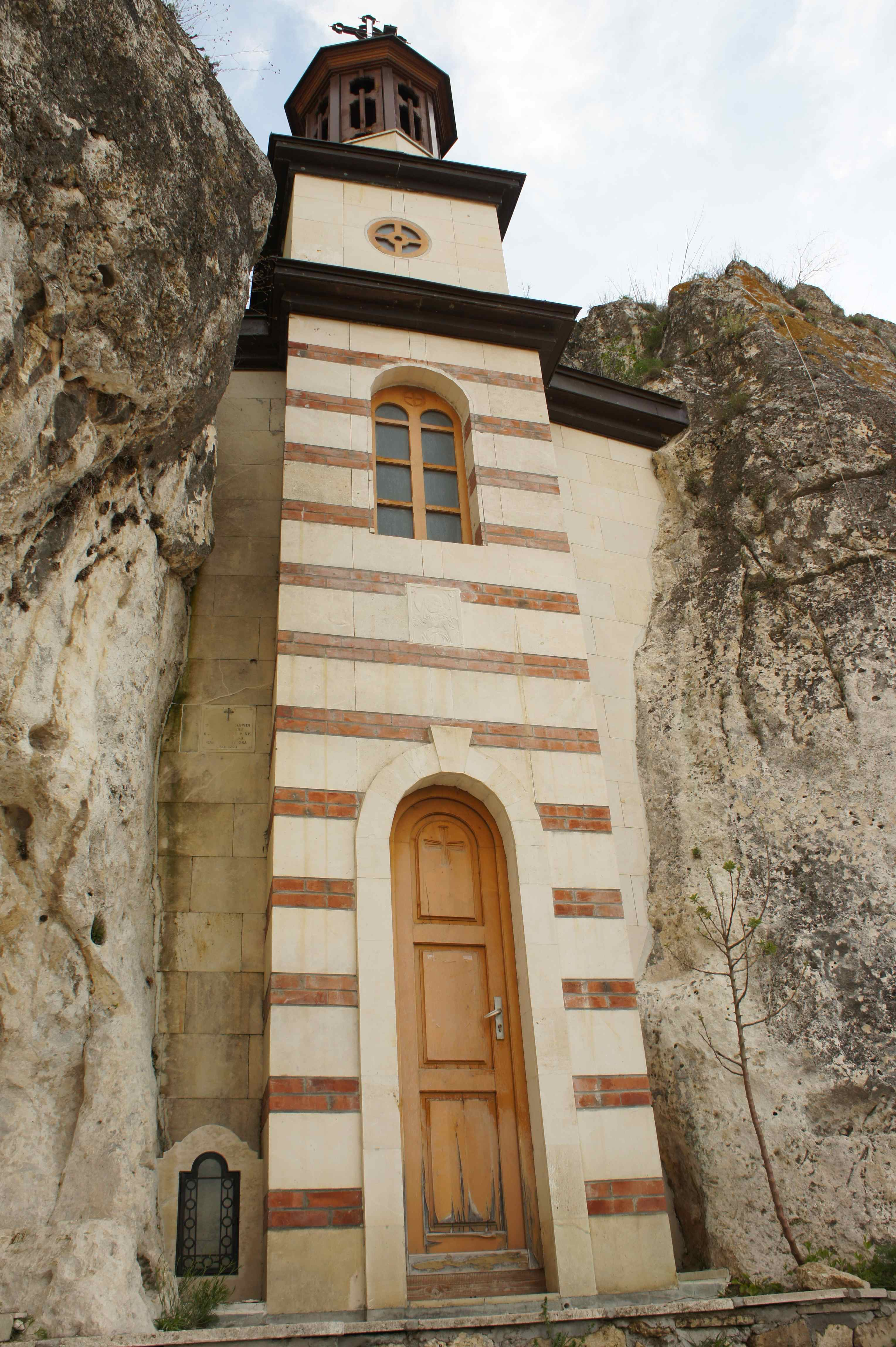 Church carved into the cliffs