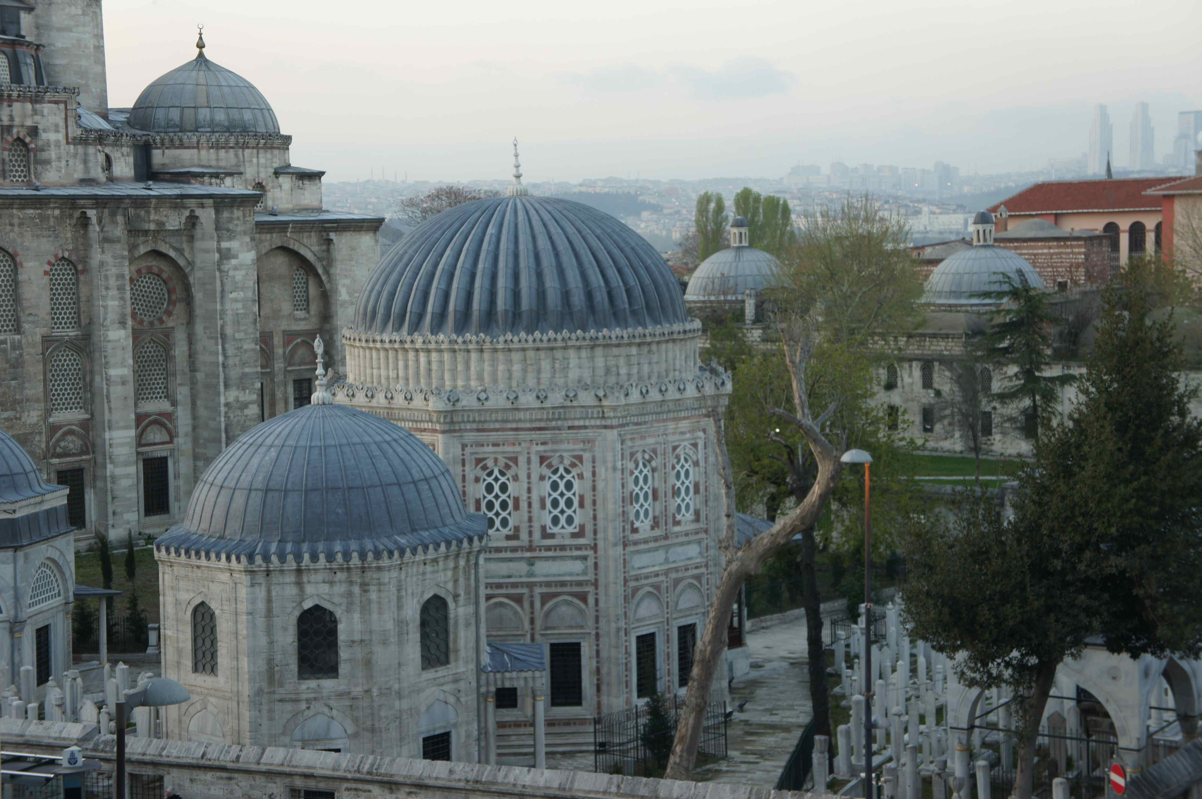 View over the great Süleymaniye Mosque from our balcony