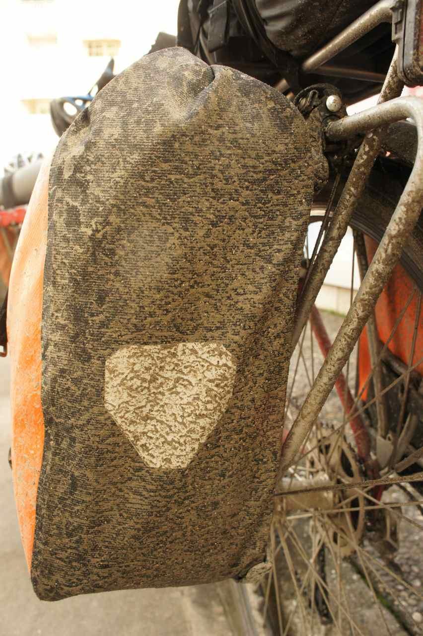 Dirty rear pannier