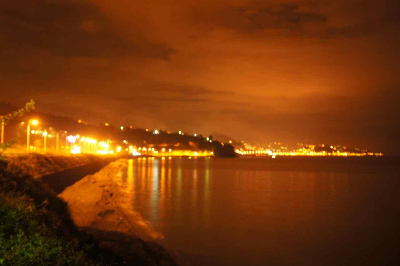 Nearby Giresun at night