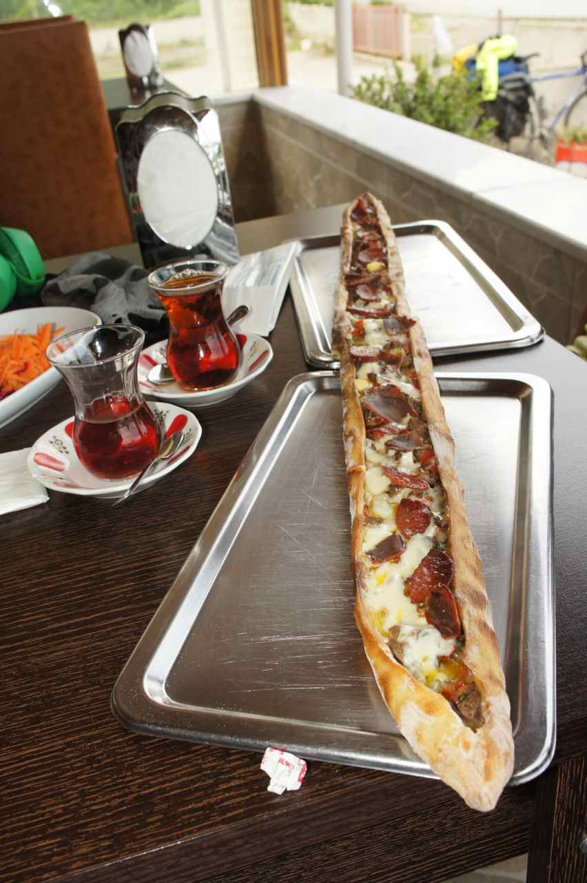 Pide for lunch again - this one was vey long...