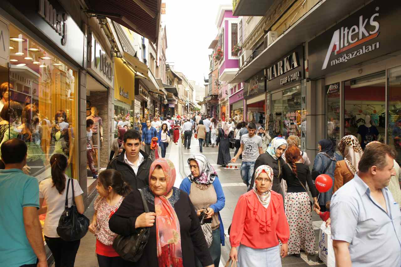 Main shopping street in Trabzon