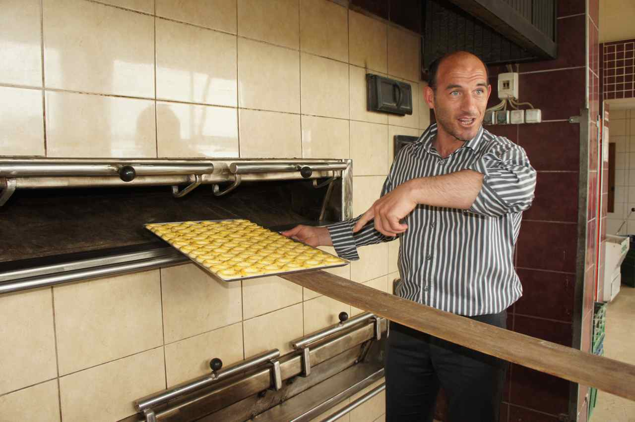 The owner of the bakery took us on a tour around his bakery