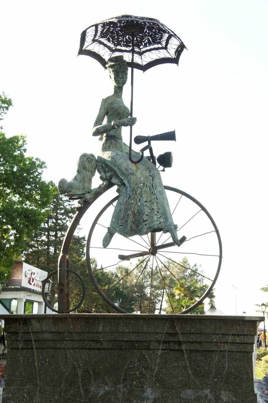 A sculpture in the Boulevard park.