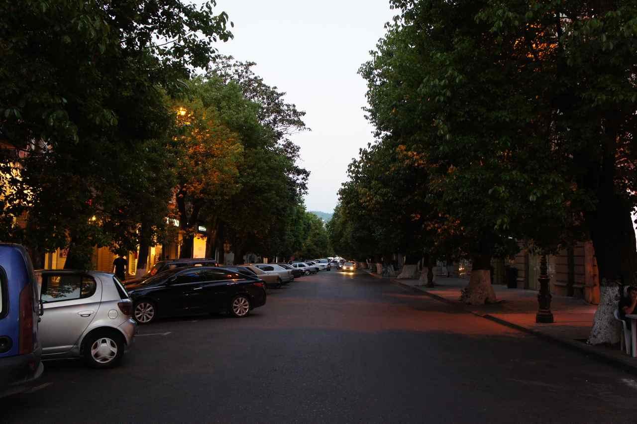 A Batumi street at dusk
