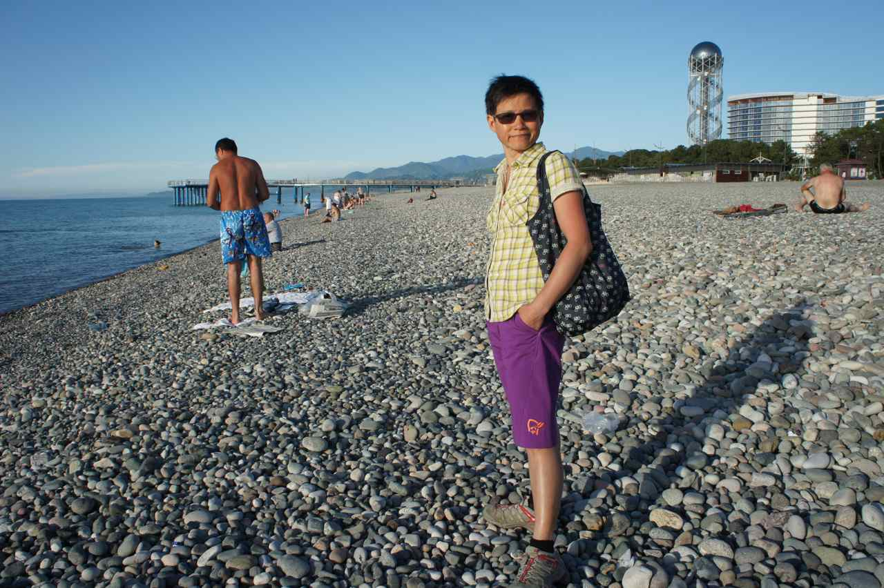 On the beach in Batumi