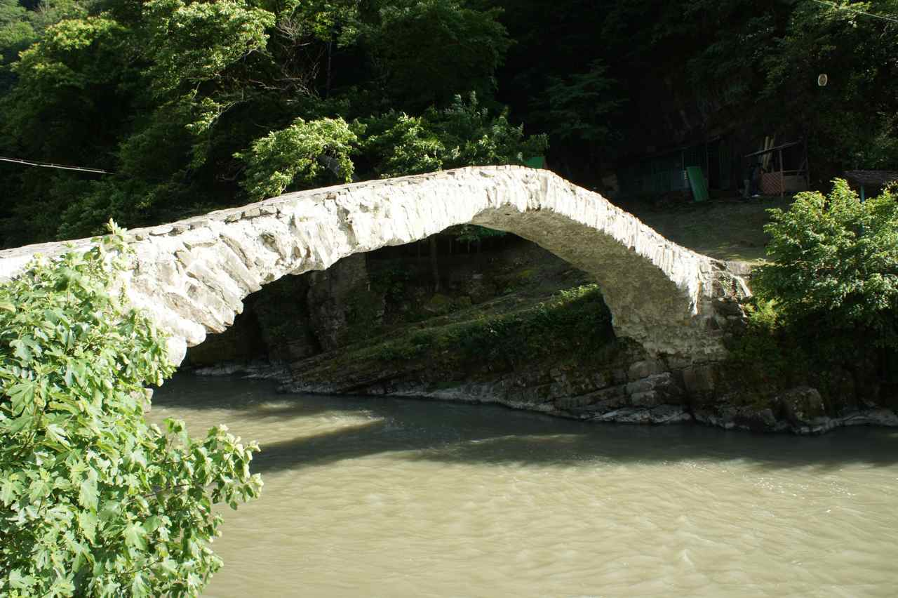 "There are several old bridges in the valley, all signposted as ""historical bridge"""
