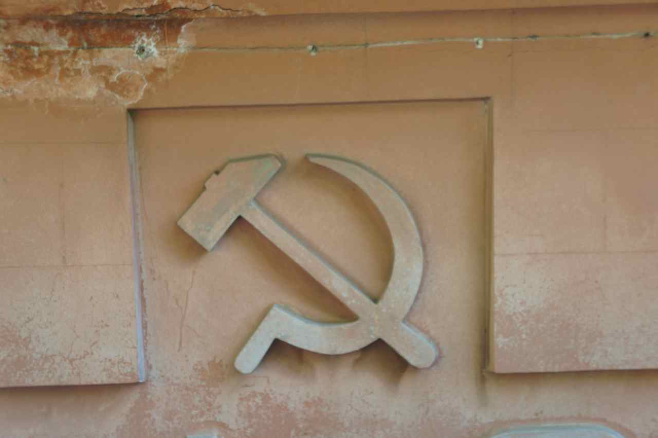 Soviet relics are present everywhere.