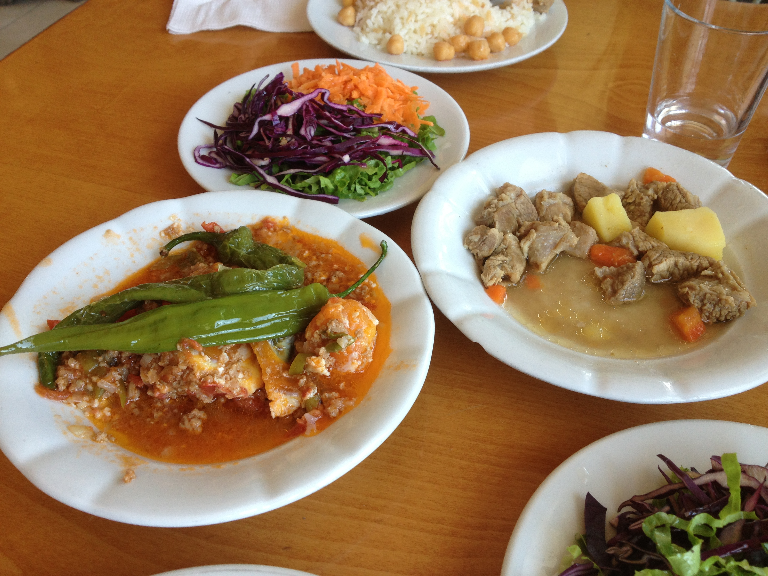 Our lunch at the truck drivers' restaurant