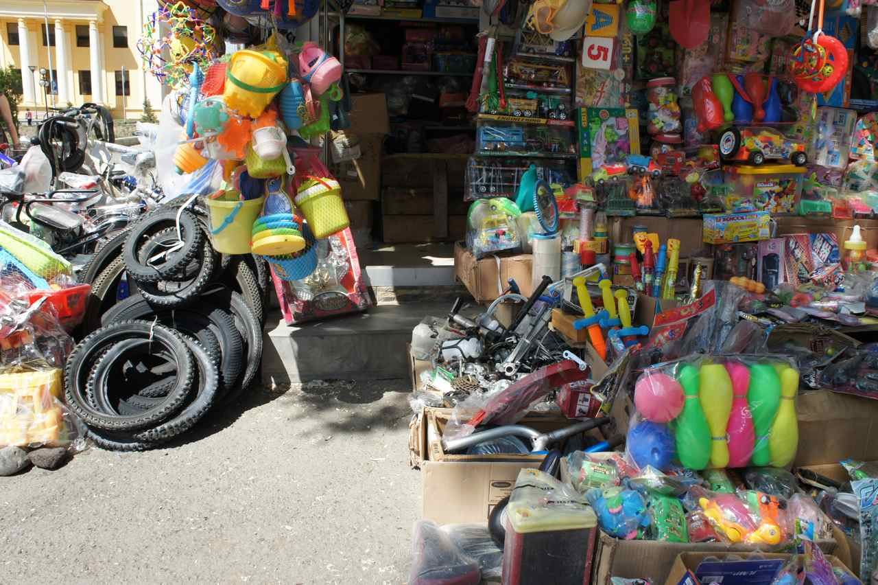 Store selling anything from toys and kitchen utensils to simple bicycle parts.