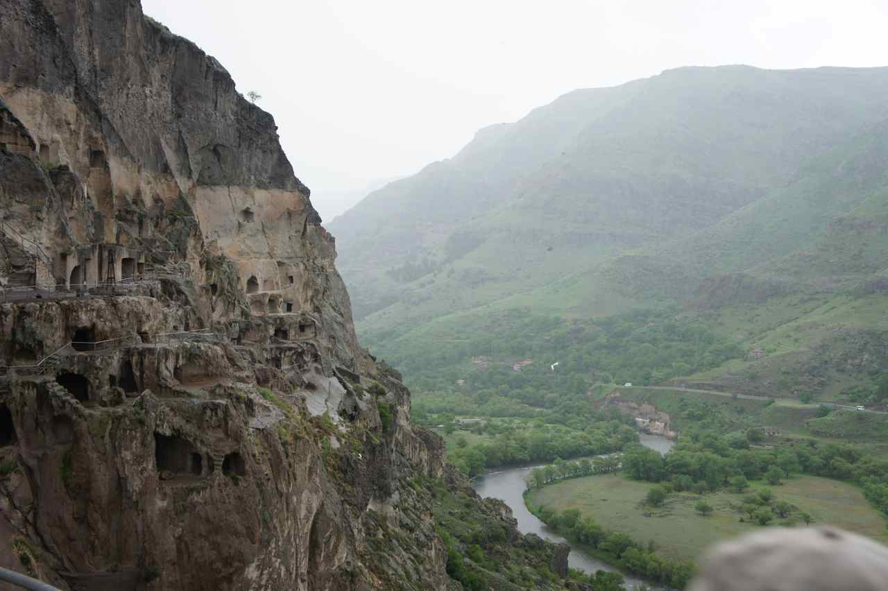 A part of the rock city at Vardzia