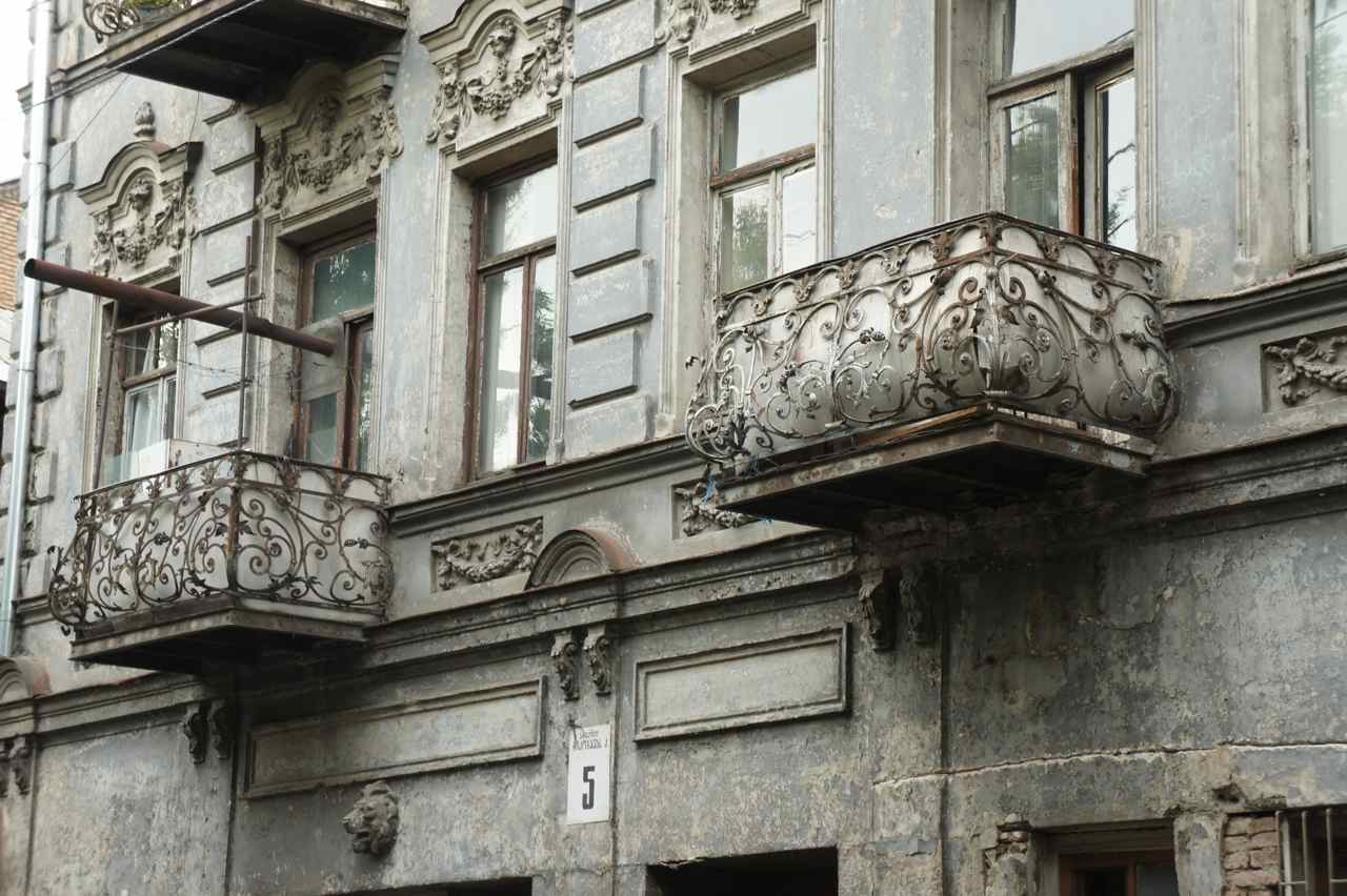 Check the wonderful iron railings on these balconies