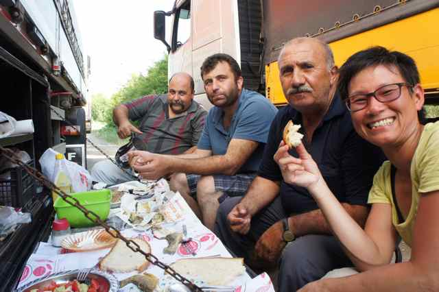 Lunch with the Turkish truckers