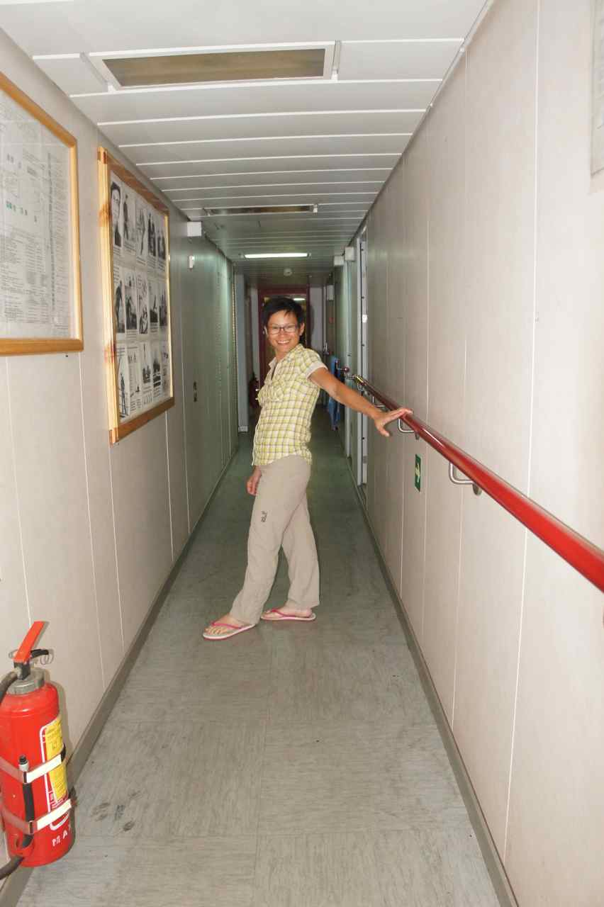 Wej in the ships only corridor