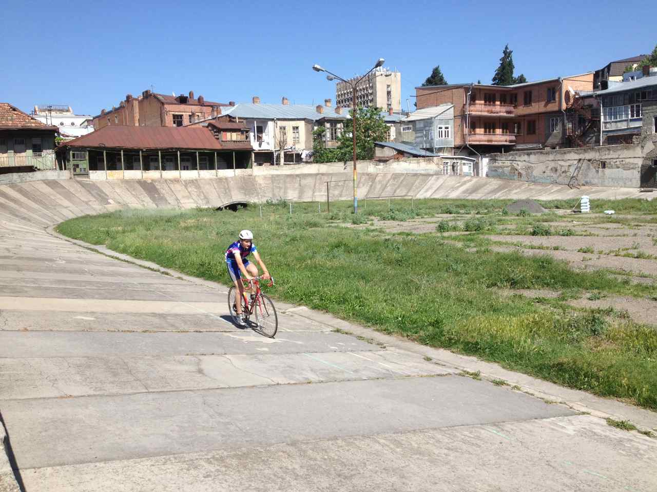 Tbilisi's velodrom is old and in desperate need of repair.