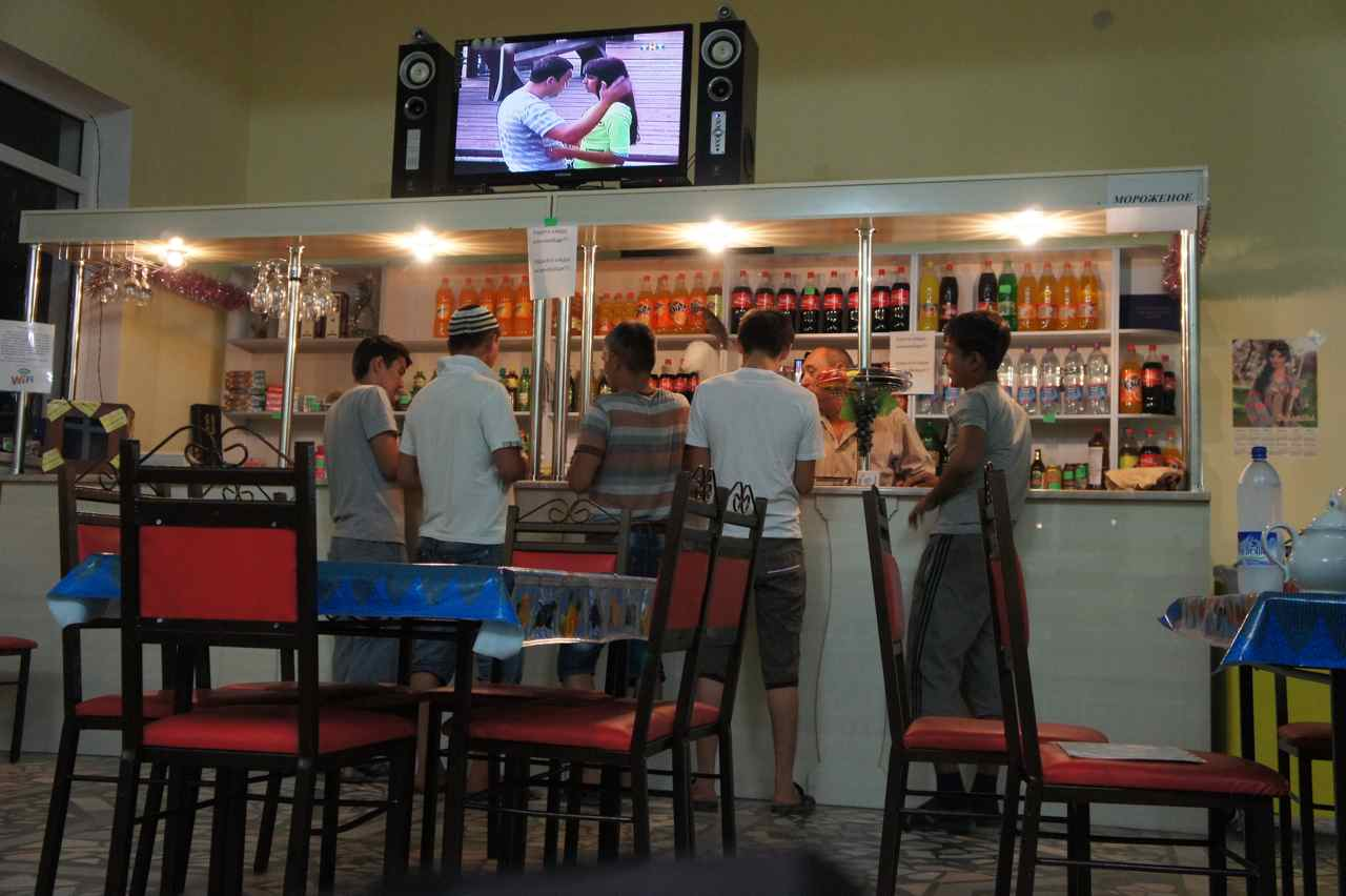 The bar at the truck stop we stayed at 30 km west of Kungrad