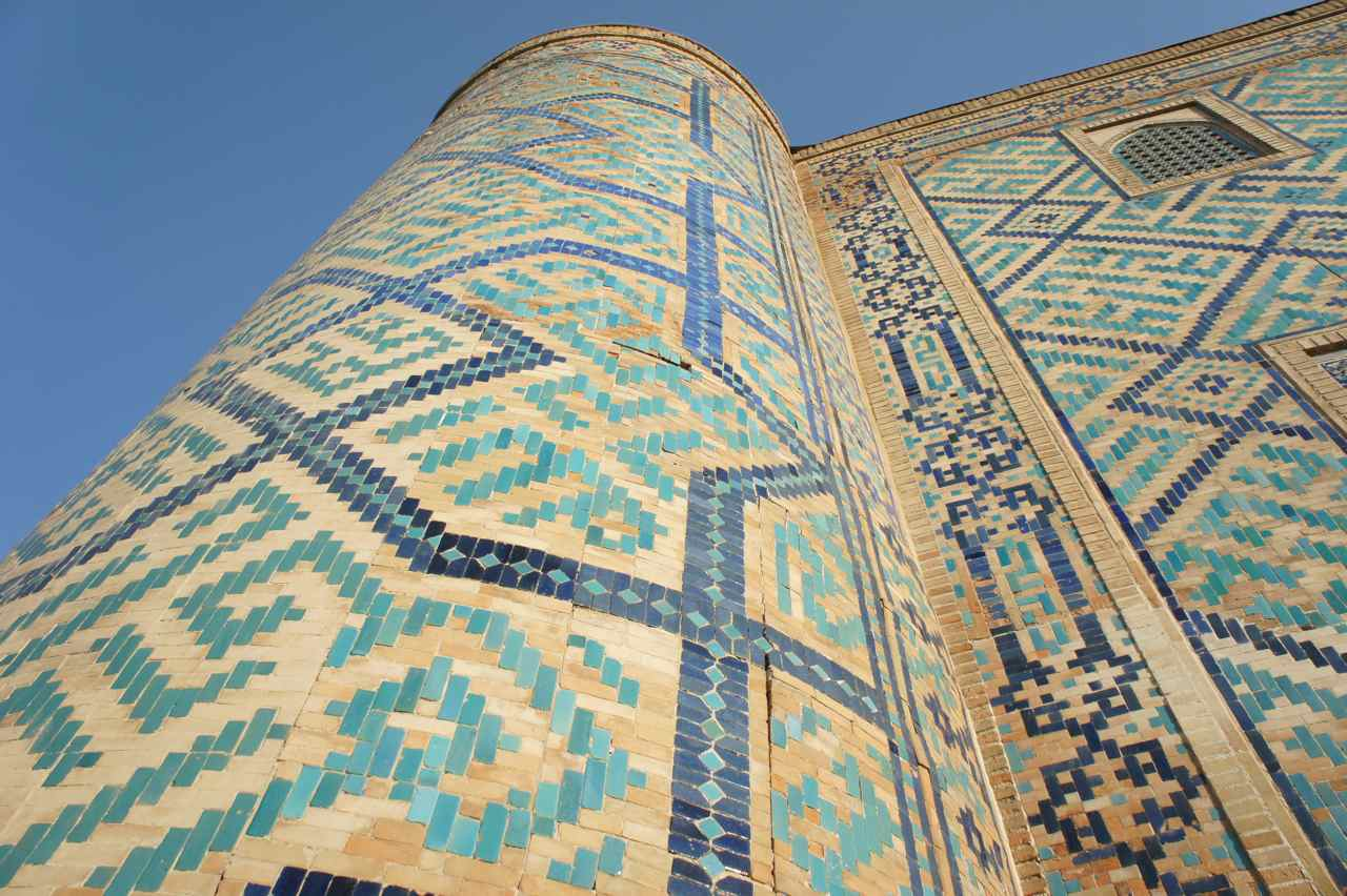 Mosaic on a minaret