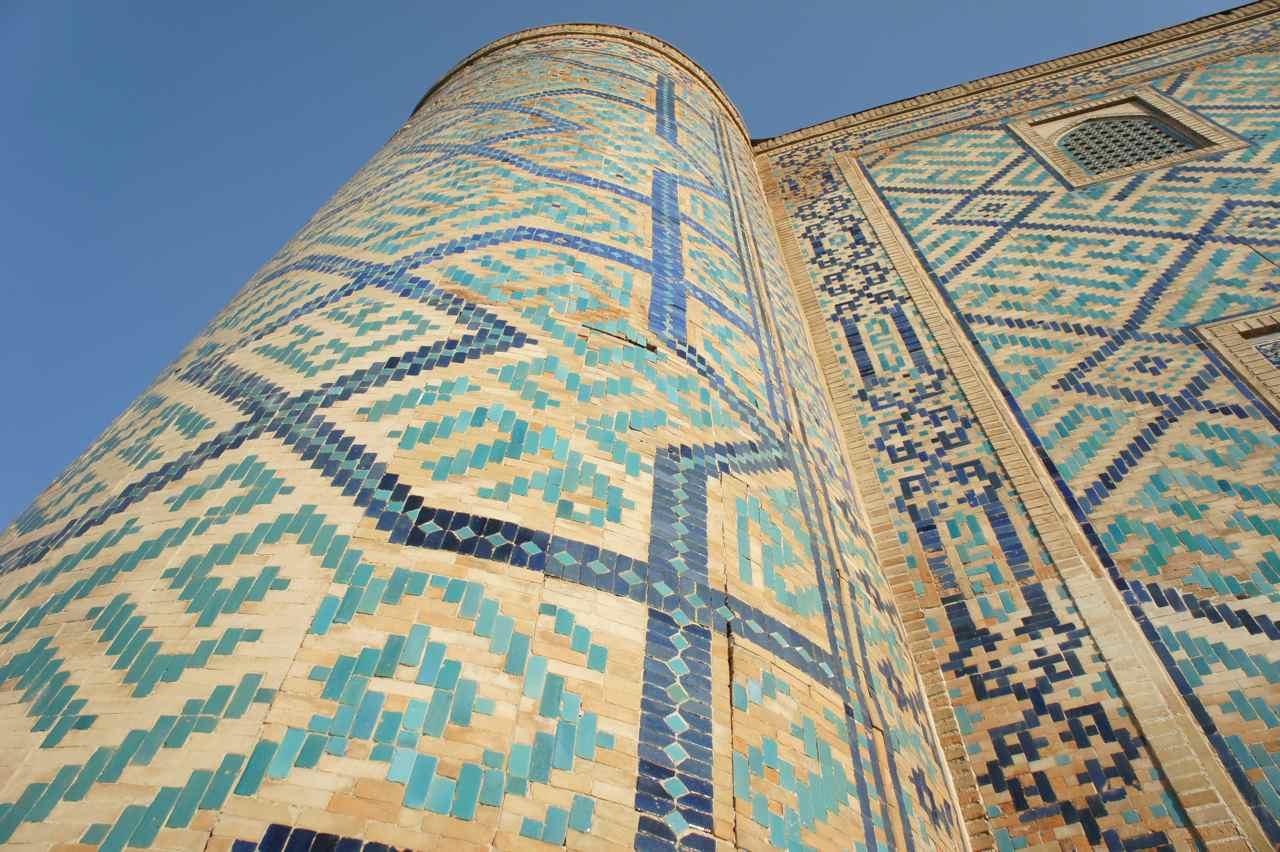 Mosaic on a minaret