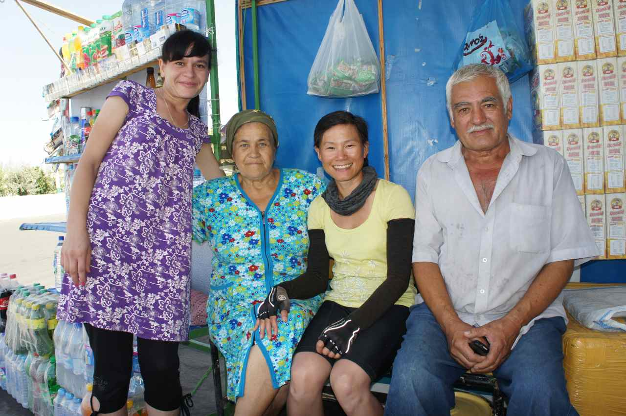The shopkeeper, her mother and neighbour