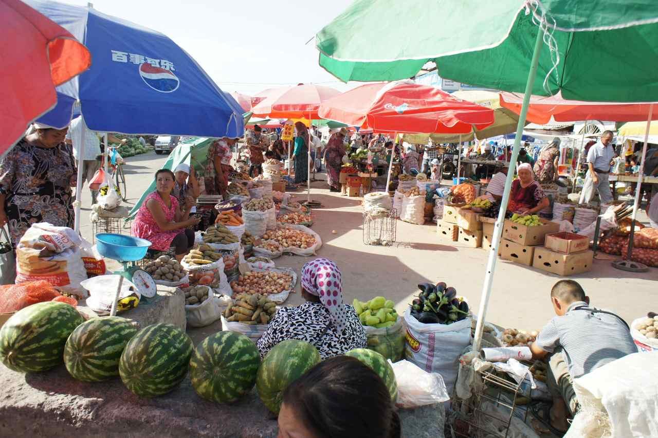 At the bazar