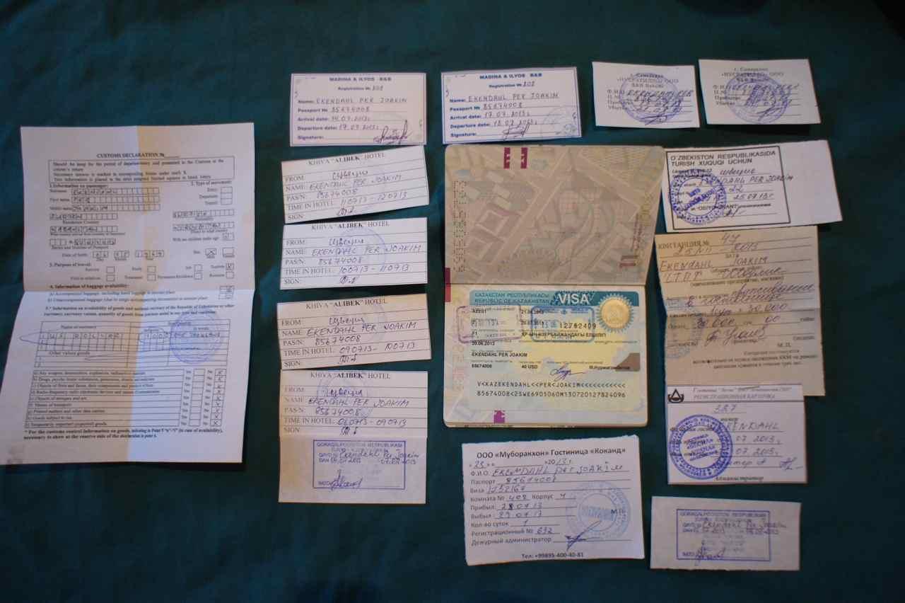 Documents needed to exit Uzbekistan