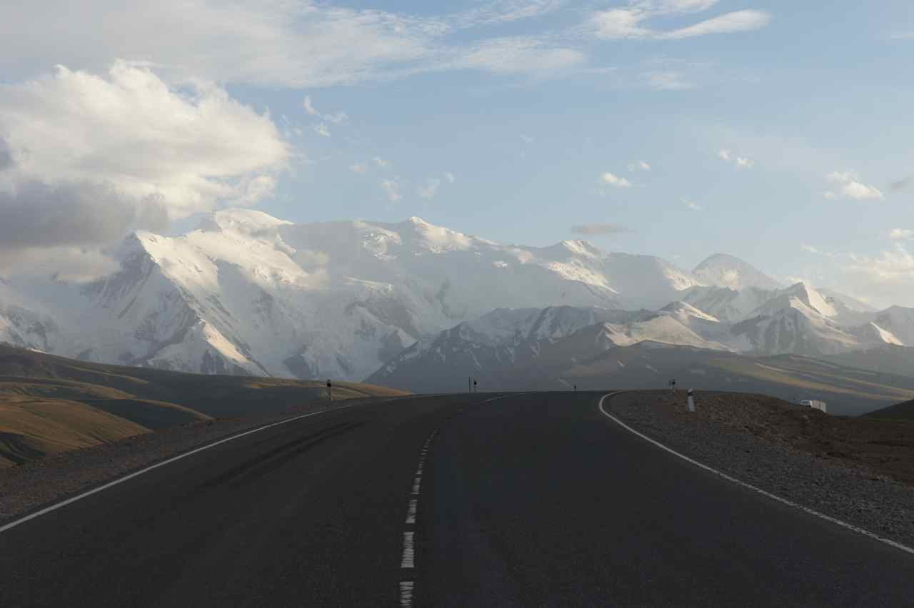 Kyrgyzstan is very very beautiful, but the mountains in the background is actually in the Pamirs in Tajikistan