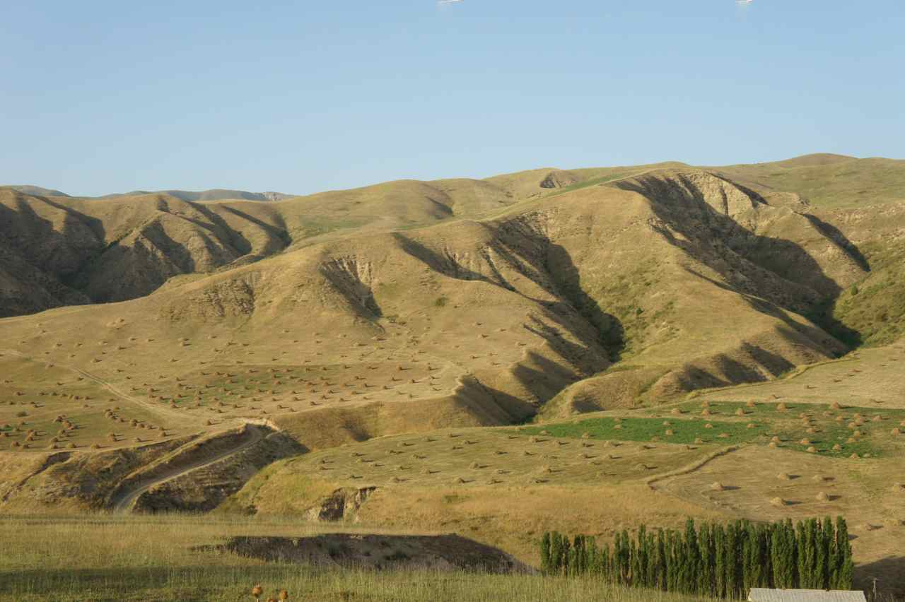 Beautiful mountain sides in Kyrgyzstan