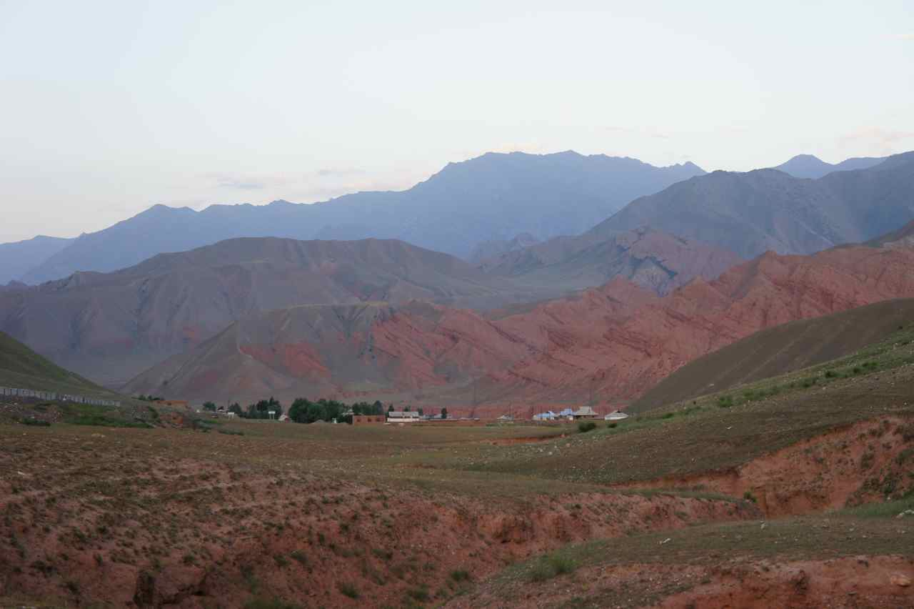 The mountains in Kyrgyzstan are very beautiful, especially at sunset
