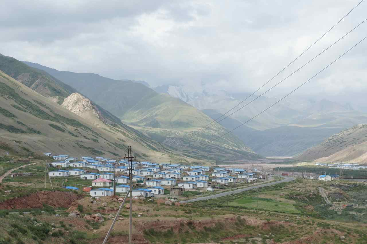 Only blue roofs in Nura.