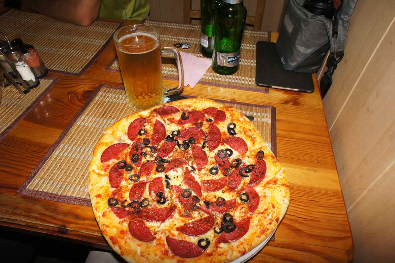 Pizza and  a beer can never be wrong... :-)