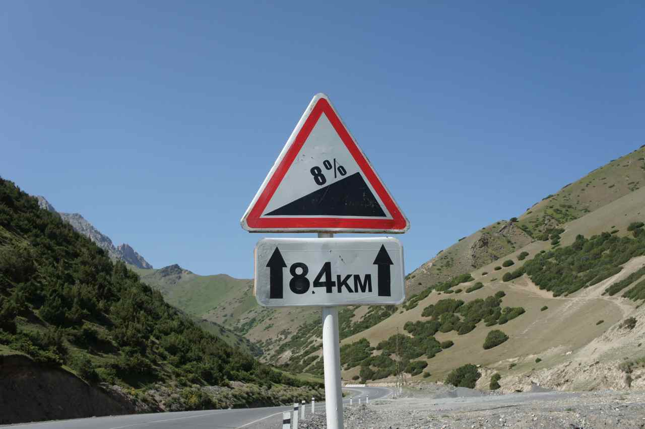 8% gradient for the coming 8.4 km is our way of having fun.... :-)