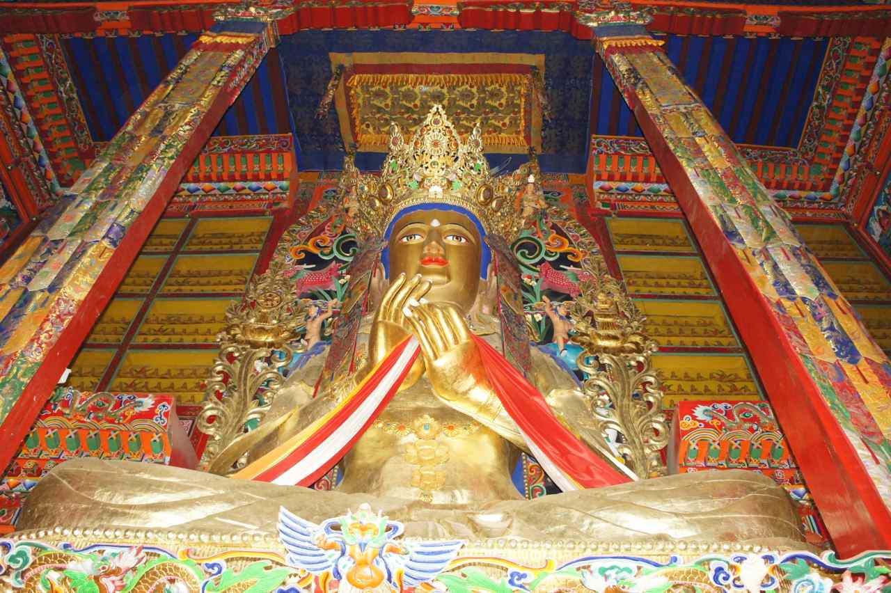 The buddha statue in the main hall