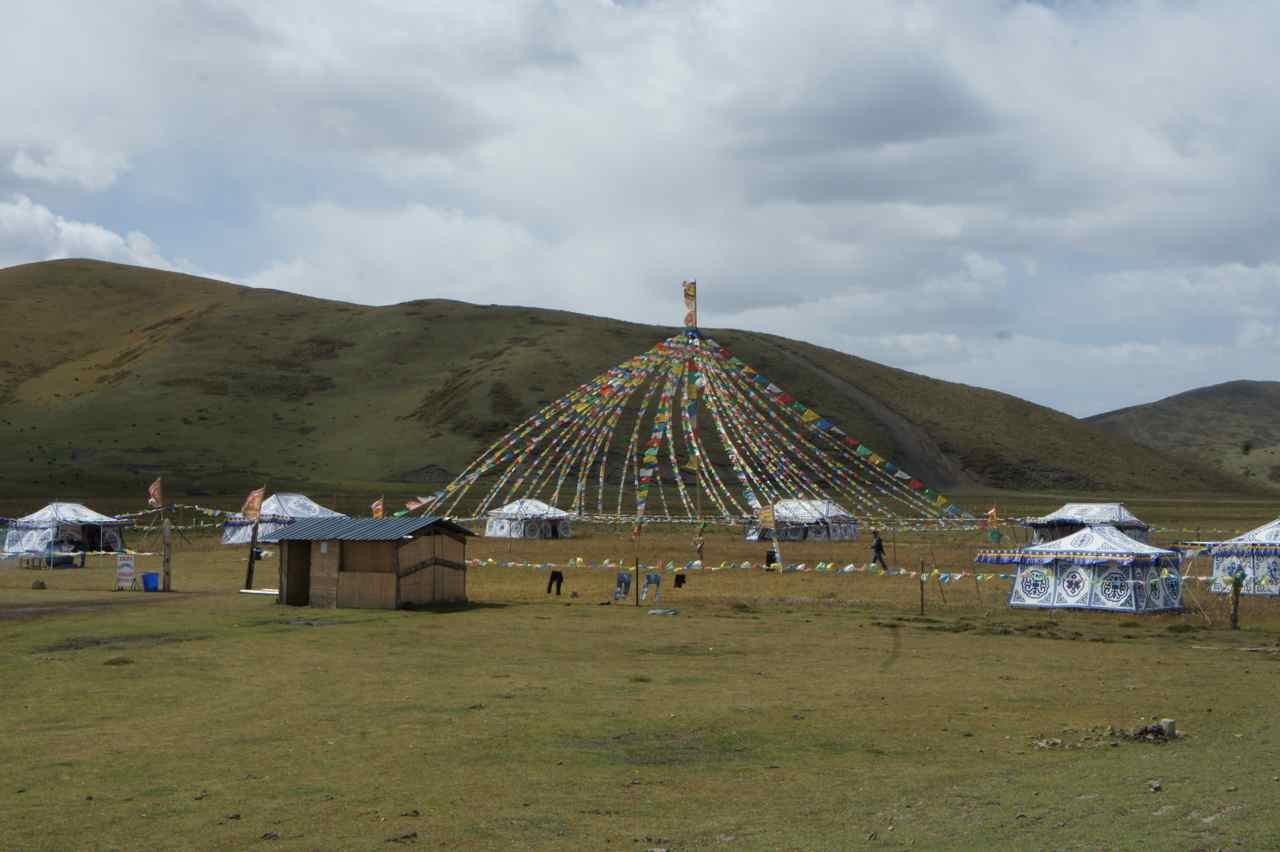 Activity center for visiting tourists or a traditional summer pasture