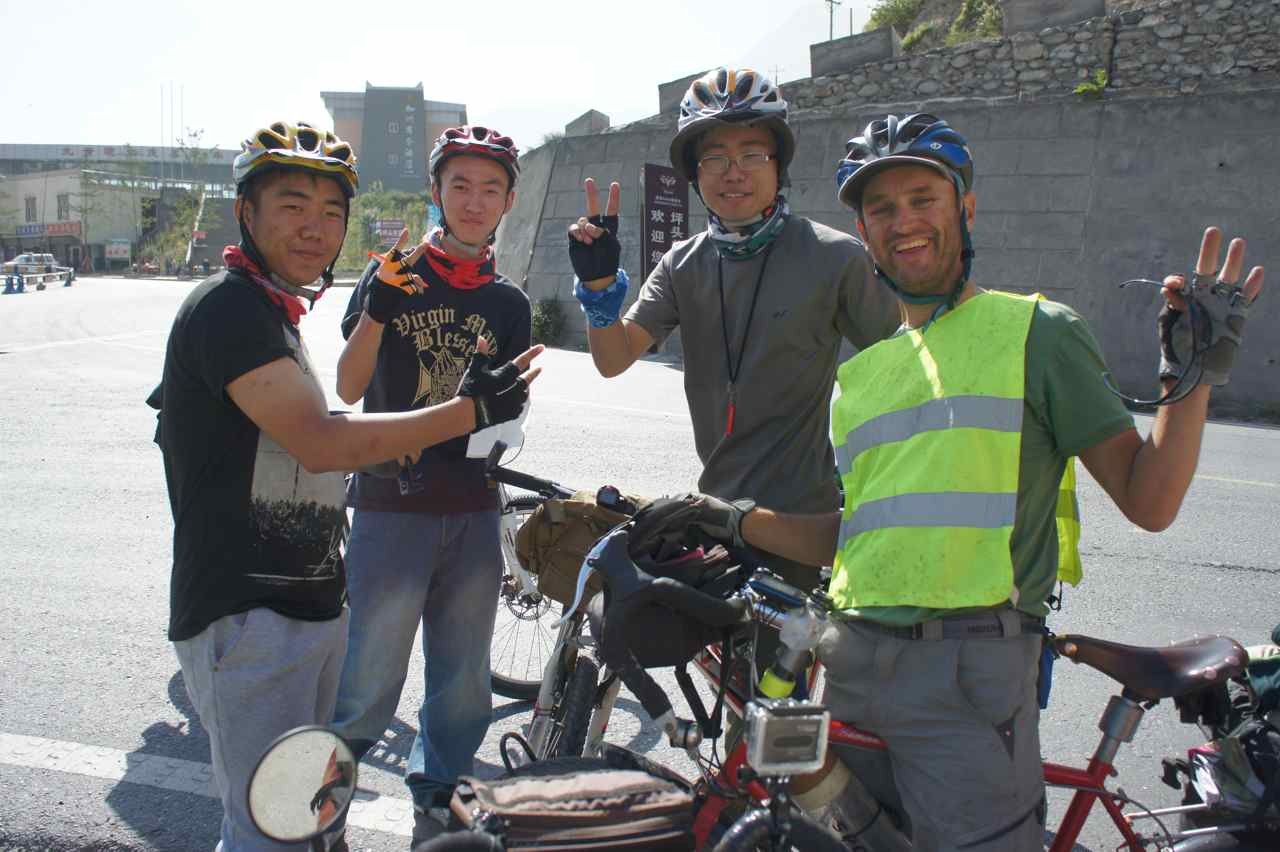 Meeting local cyclists