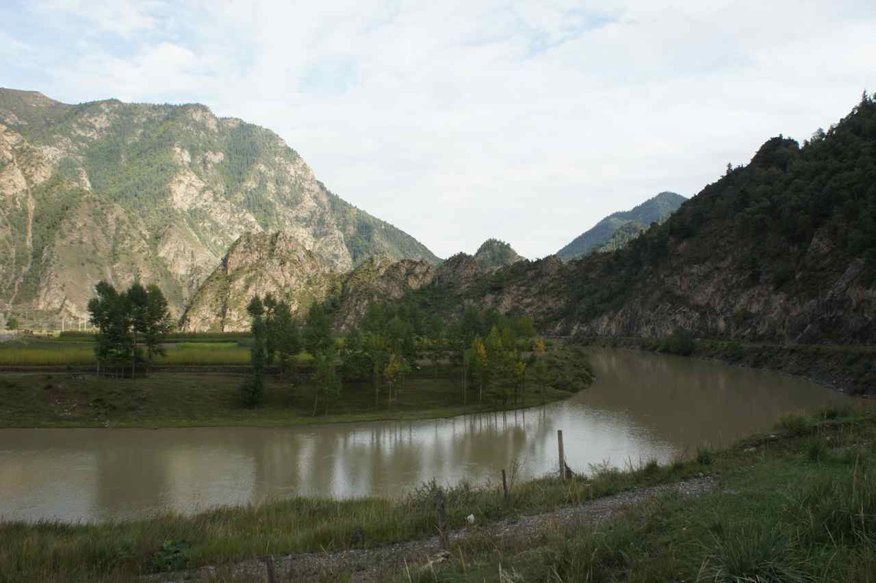 A view of the meandering river