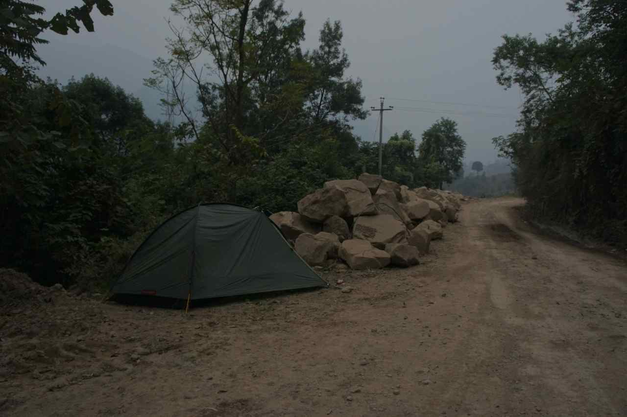 Camping close to the road
