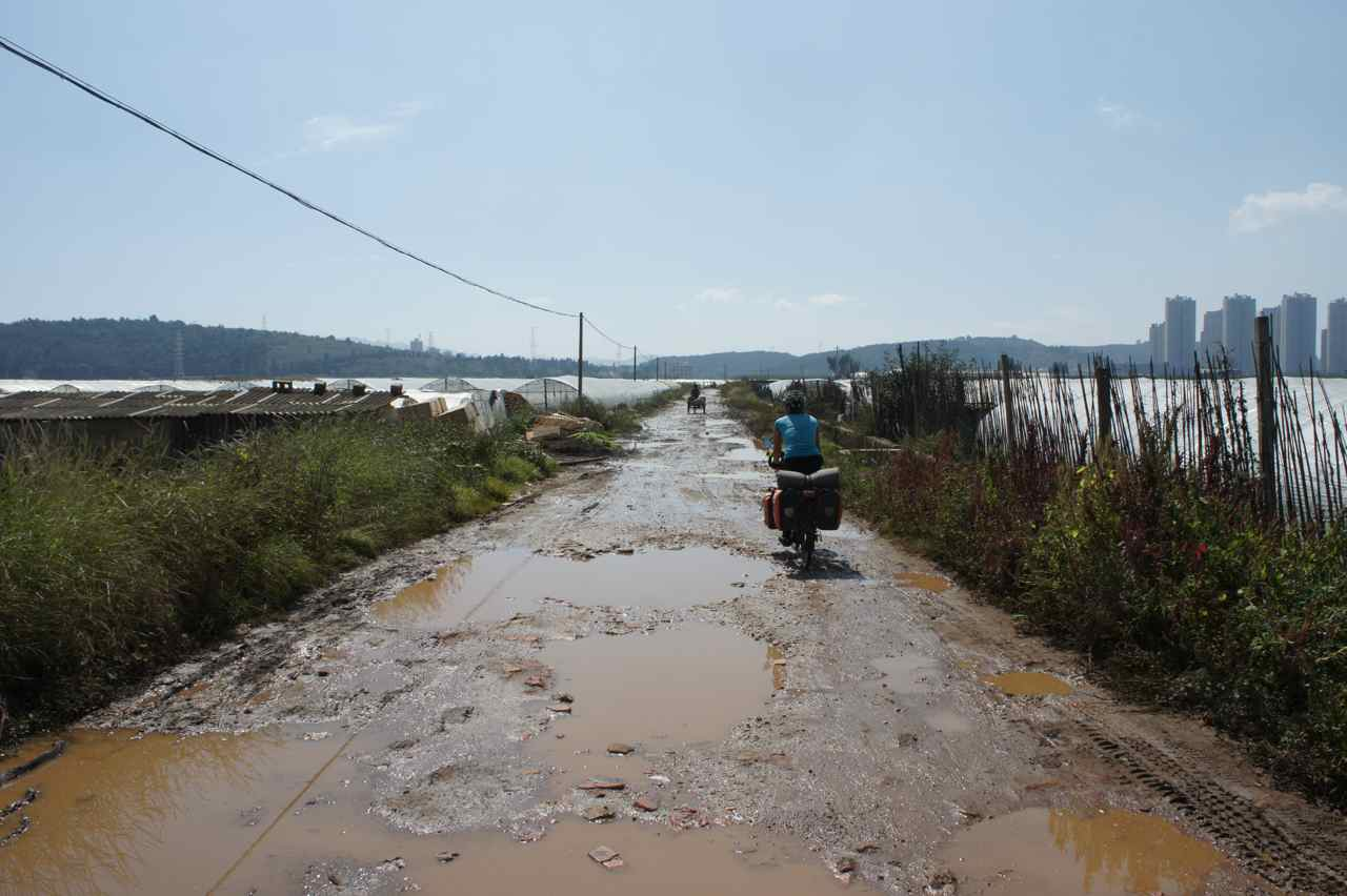 Muddy roads just south of Kunming