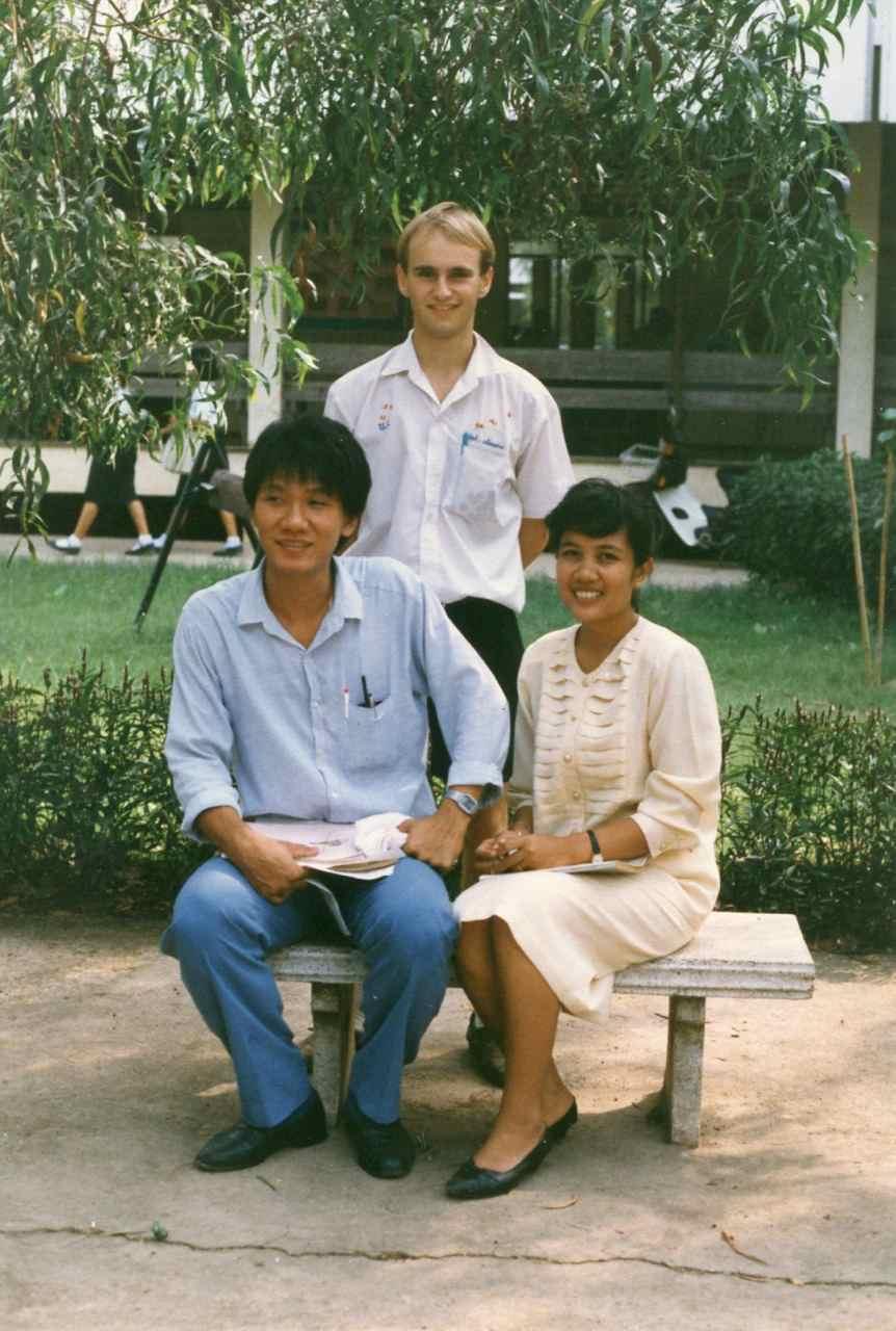 P'Ya, P'Aek and myself back in 1987.