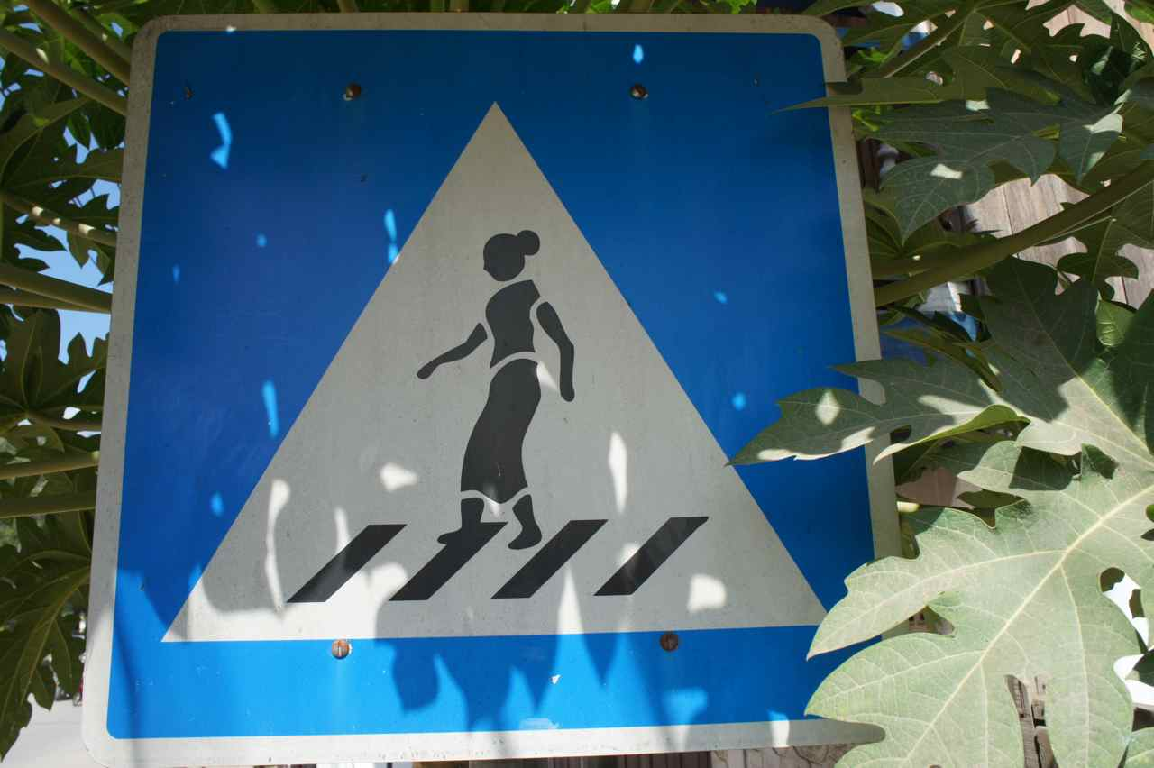 In most countries it would be a man on this sign. in Laos it is a woman. Interesting!