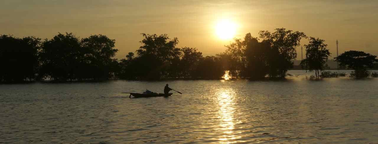 A fisherman at dawn