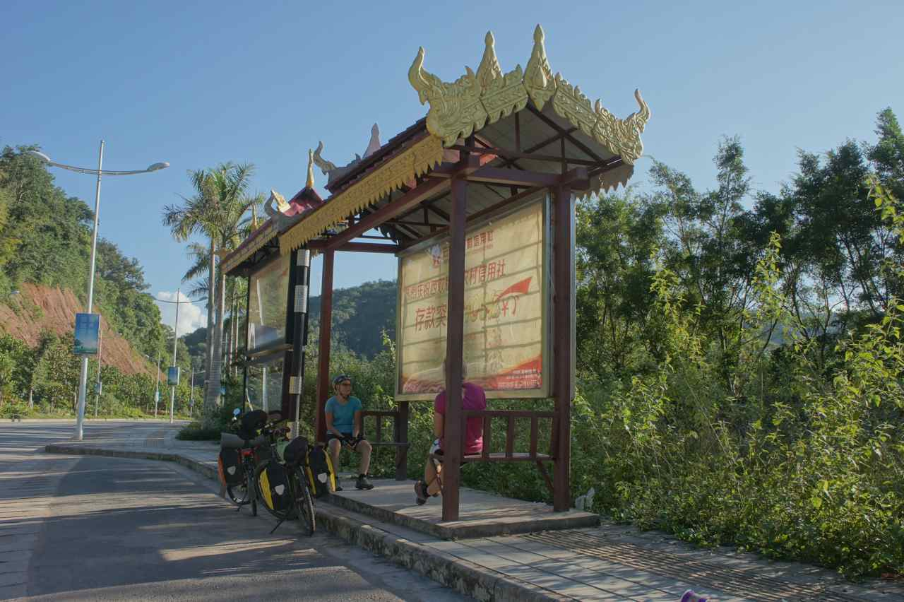 A very thai looking bus stop in Mengla