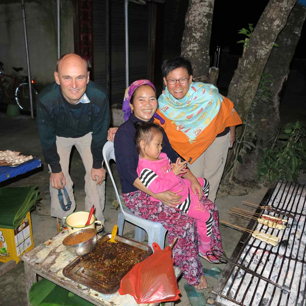 This family was the first people we met who we could talk to in Thai/Lao